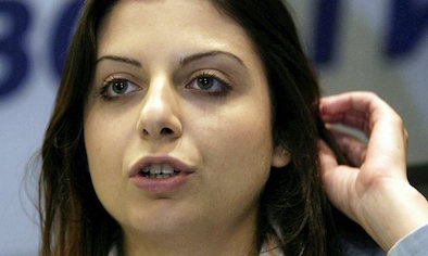 Margarita Simonyan, editor-in-chief of Russia Today TV, is one of those prevented from entering Ukraine. Photograph: Ruslan Krivobok/AP