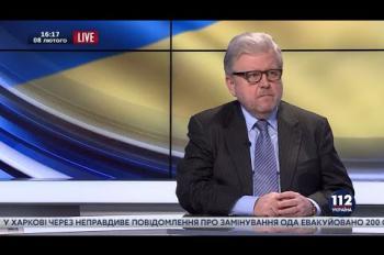 """Владимир Хандогий, чрезвычайный и полномочный посол - гость """"112 Украина"""", 08.02.2016"""